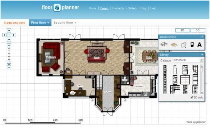 Floor planner creates and share interactive floorplans virtually