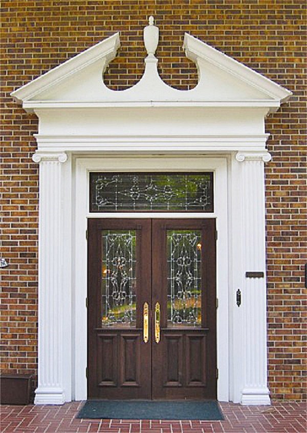 White Doors With Opaque Glass