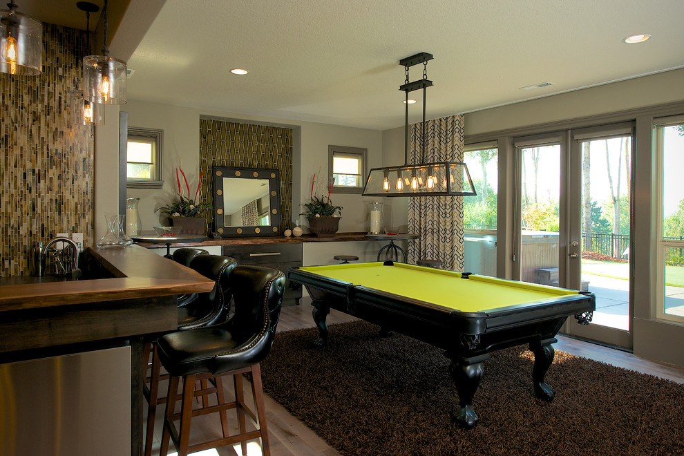 Pool Table Dining Combo Ideas