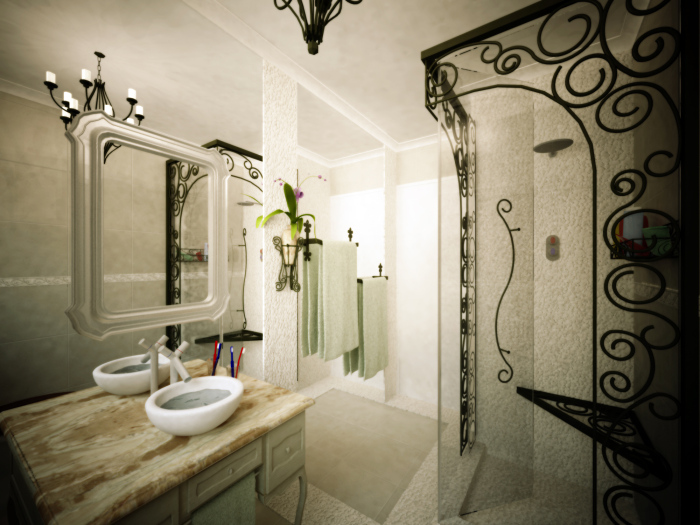 The monochromatic look of the bathroom makes it classy and trendy