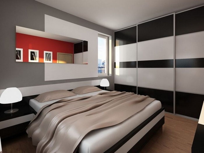 This is a contemporary bedroom design