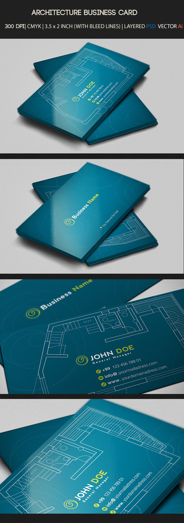 The use of fancy paper and creative design will definitely attract clients