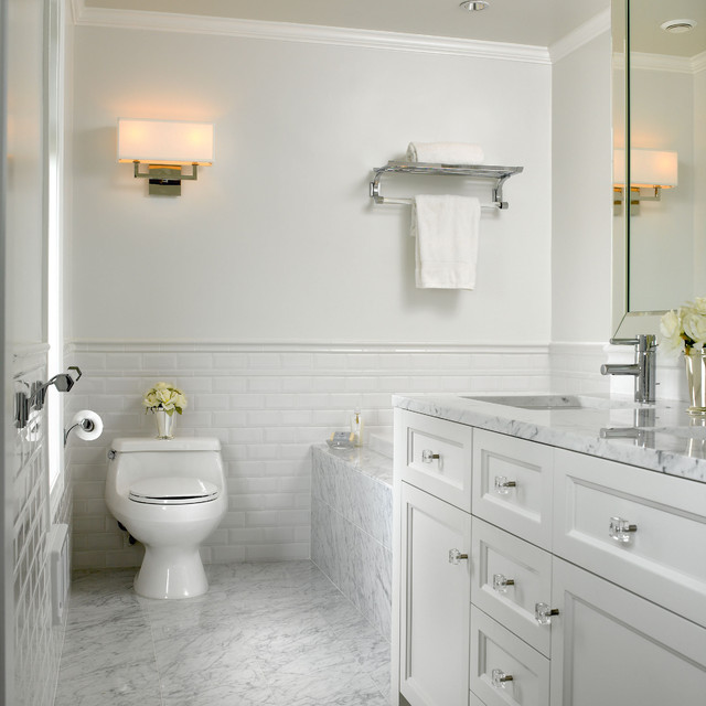 Bath Room With Lighting Layers