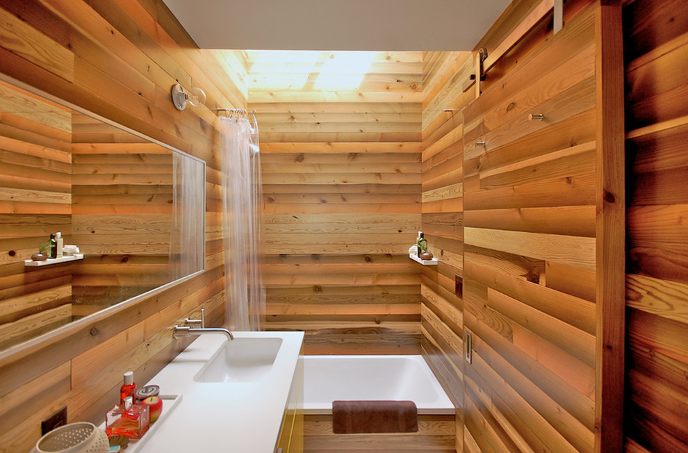 Clean Neat Design Is For You 8 Wooden Bathroom With Zen Design Idea