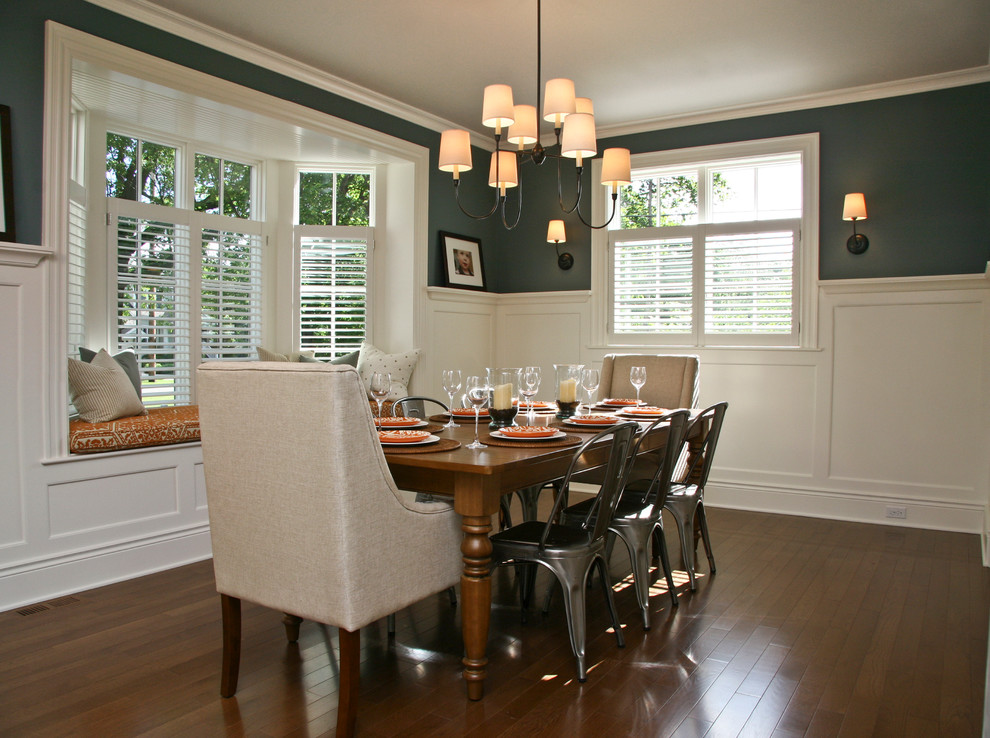 Dining rooms with bay window designing ideas for Dining room window designs
