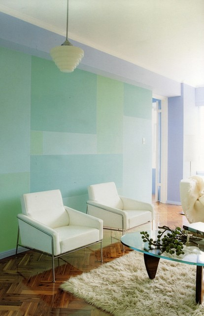 The furnitures design looks good with the wall color