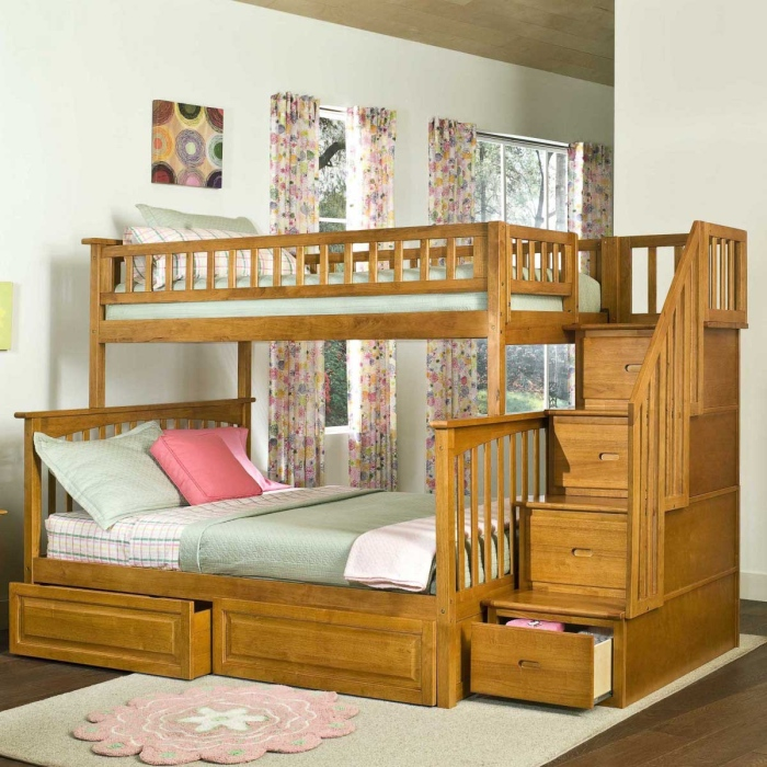 fancy-teens-room-design-with-cool-wooden-bunk-bed