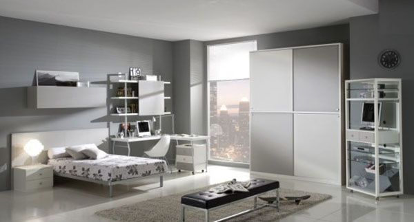 Teen's bedroom with a small nice bed