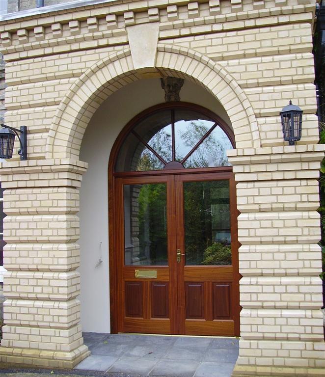 victorian style brown door