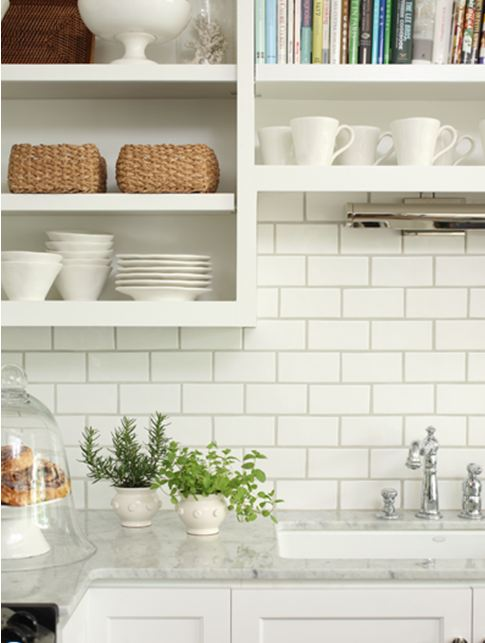 light grey counter tops can look good with white subway tiles
