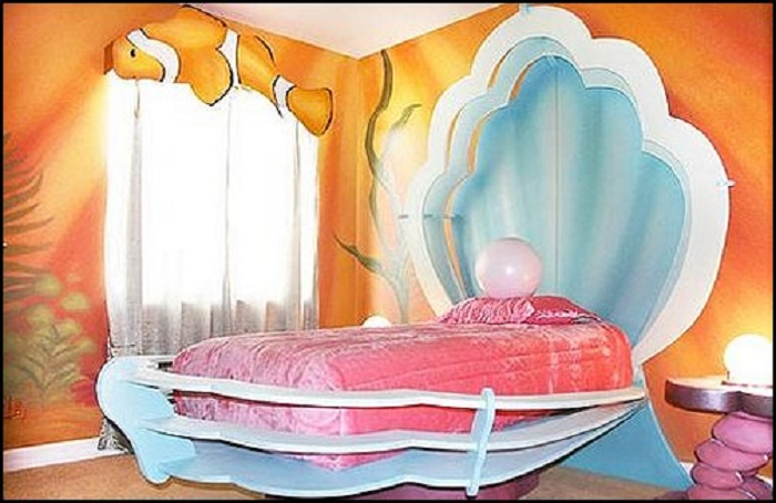 clam shell headboard
