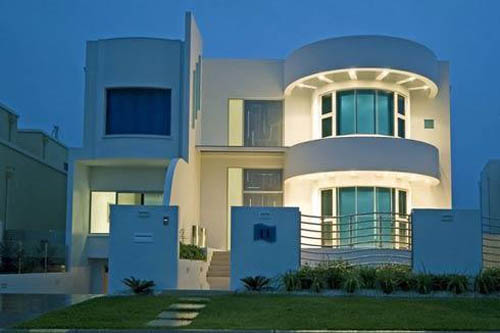 Modern houses can also be in different shapes like cube, circular, and many others
