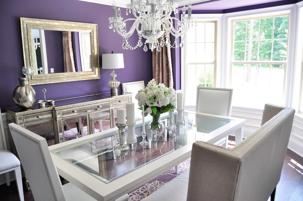 Dining Rooms with Bay Window Designing Ideas : purple dining room with bay window from www.faburous.com size 990 x 658 jpeg 211kB