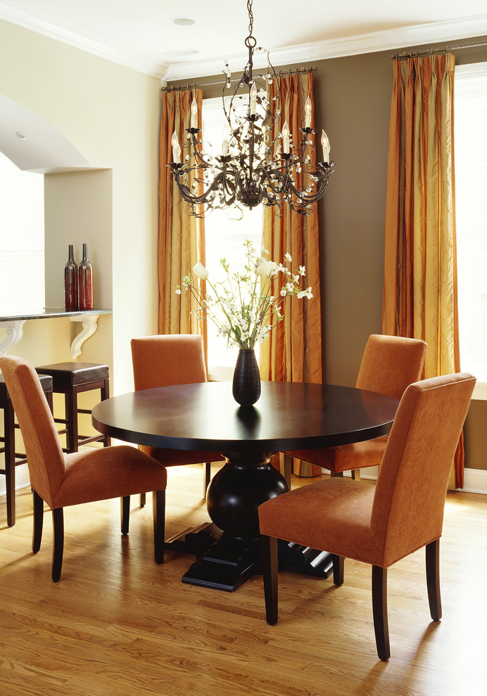 10 orange modern and contemporary dining rooms for Orange dining room design ideas