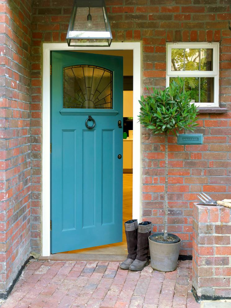 Fantastic Teal Colored Big Door