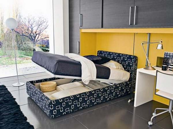 Another Space Saving Idea Is To Use The Bed As Alternative Storage