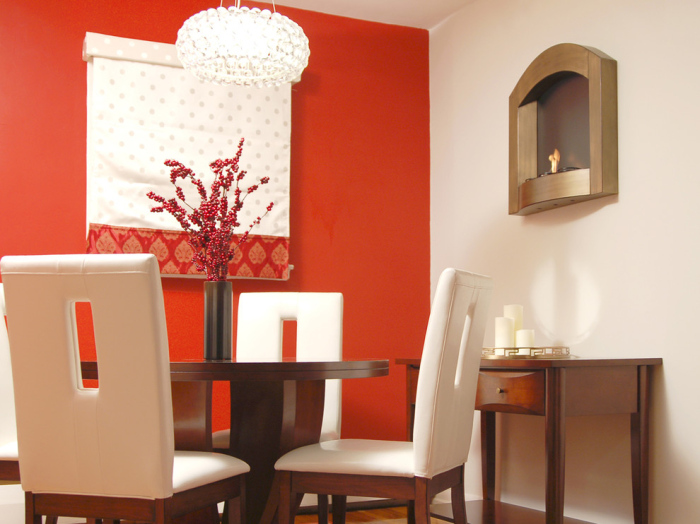 Deep Orange Painted walls