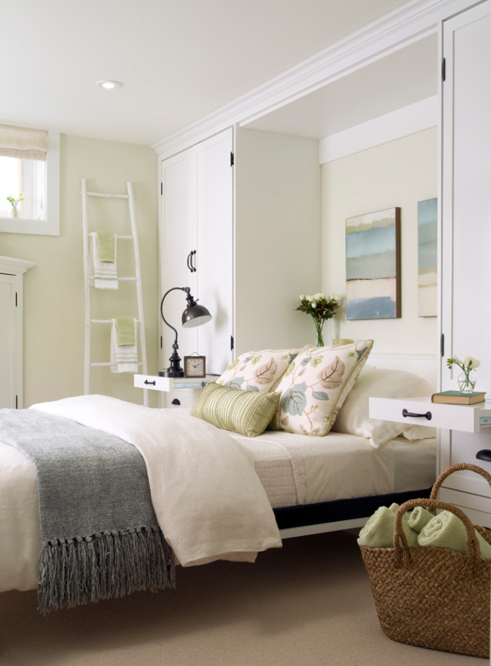 A pull-up bed saves space