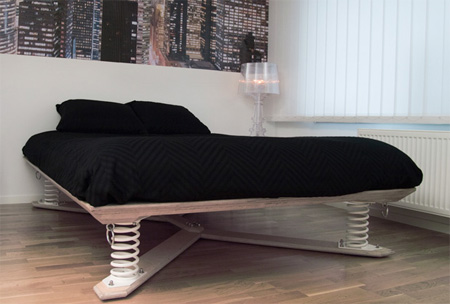A contemporary spring double bed