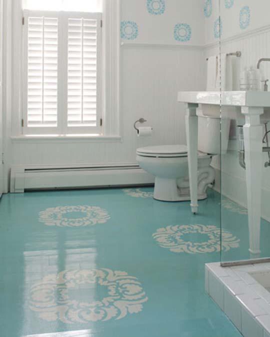 The tiles brighten the room