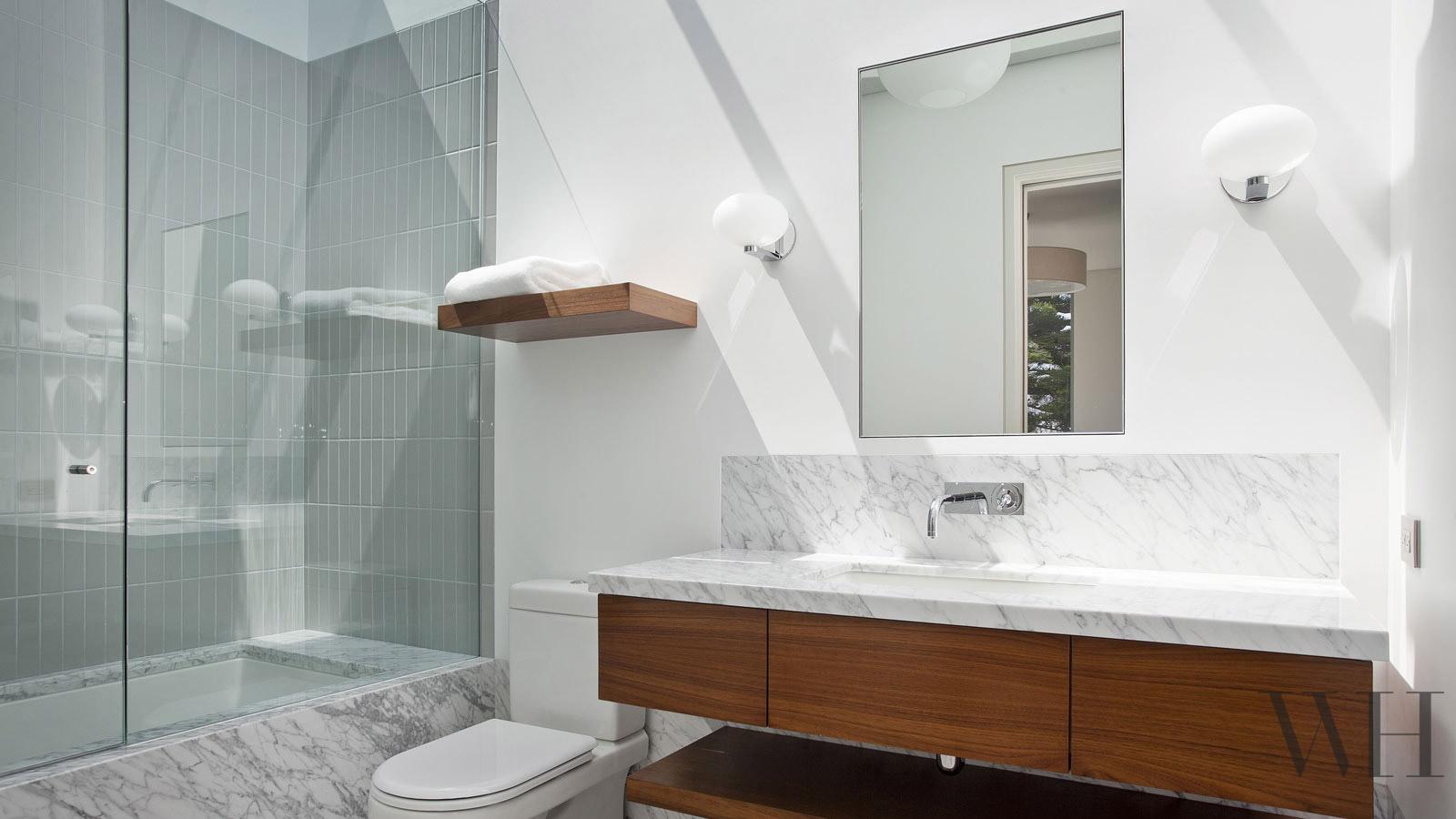 Mosaic Tile Shower: Chautauqua Residence House Architecture Design