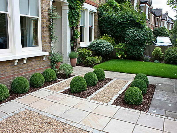 Breathtaking front garden design