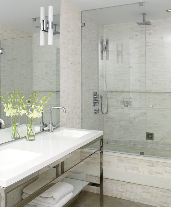 Elegant and cool small shower room for Ensuite lighting ideas