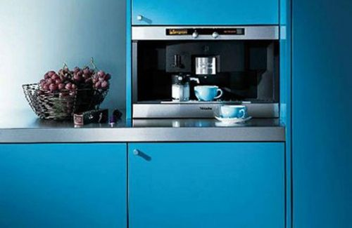 L-shaped kitchen furniture design