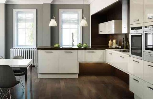Creative L-shaped kitchen design