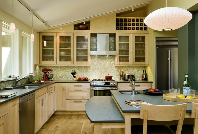 Kitchen with natural and affordable slate
