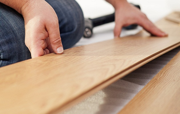 Laminate flooring material is made of synthetic products