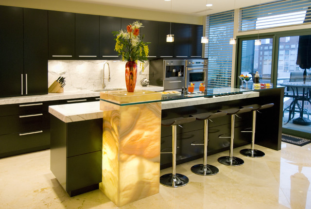 This design offers a contemporary taste