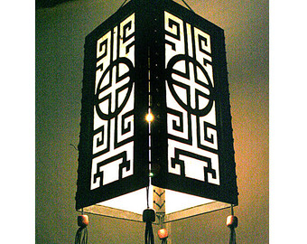 Light fixture decorating idea
