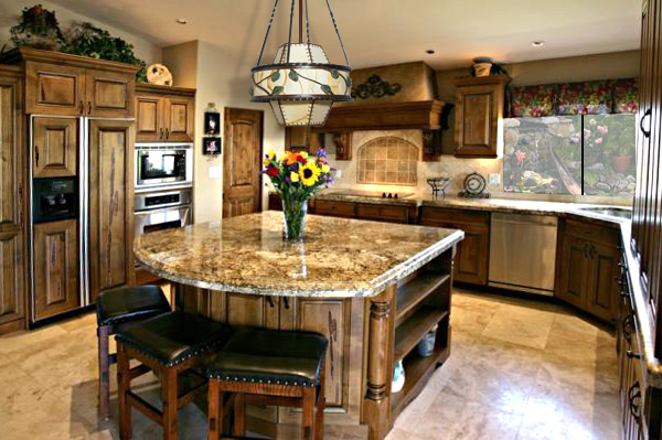 Marvellous ceramic kitchen island design