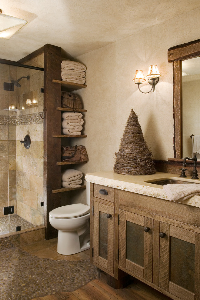 Neutral toned color bathroom design