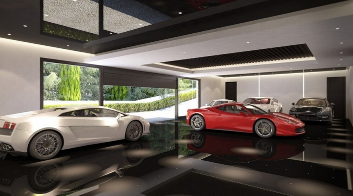 Six-car private garage design