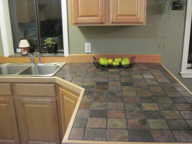 Tile Countertops For Kitchens : Slate countertops designs