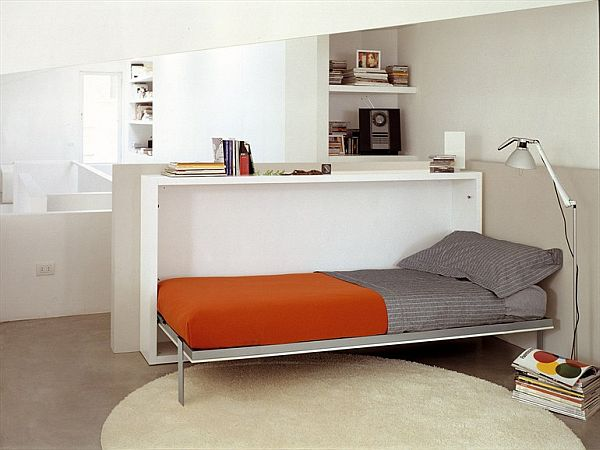 Small Spaced Room With Convertible Furniture Pieces