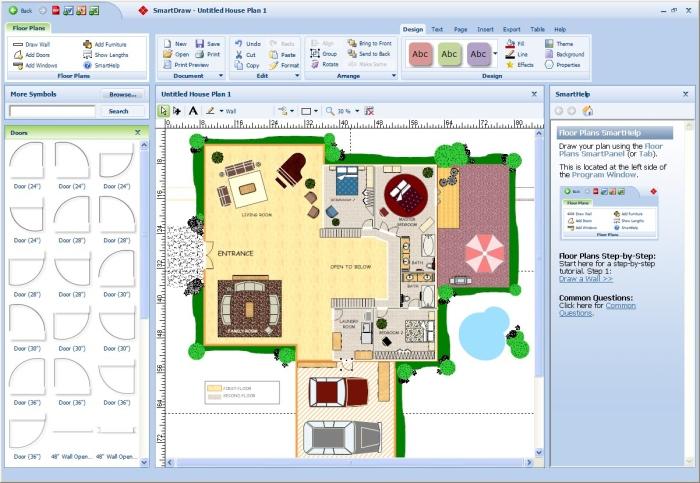 Smart draw floor Plan software