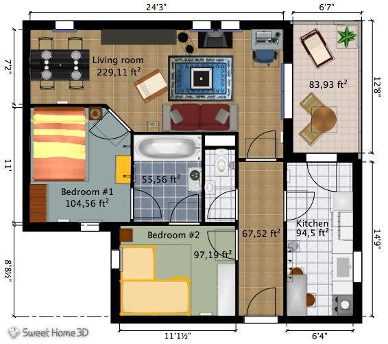 Cool free room planner software for Free room layout program