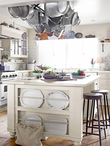 White kitchen island design