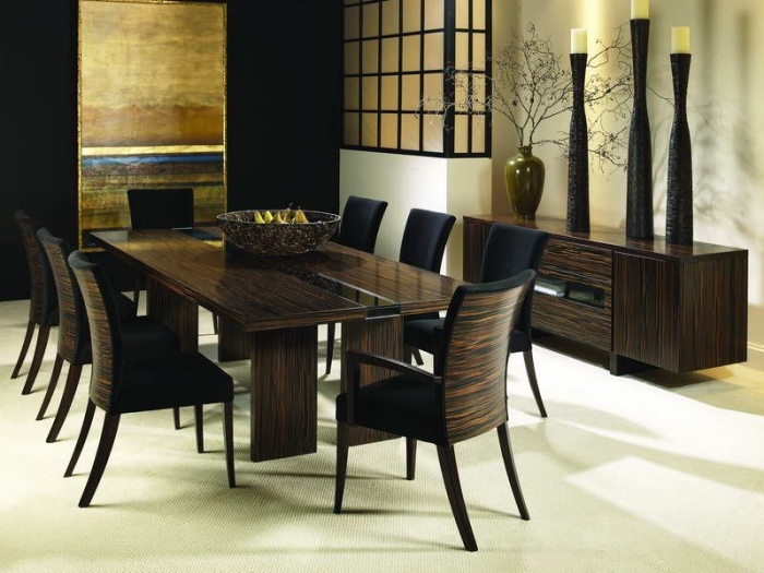 Wooden dining table design idea