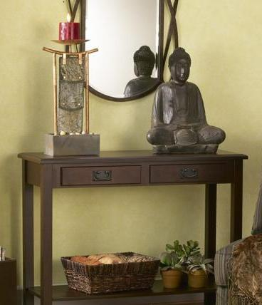 Zen decorations help promote relaxation and meditation