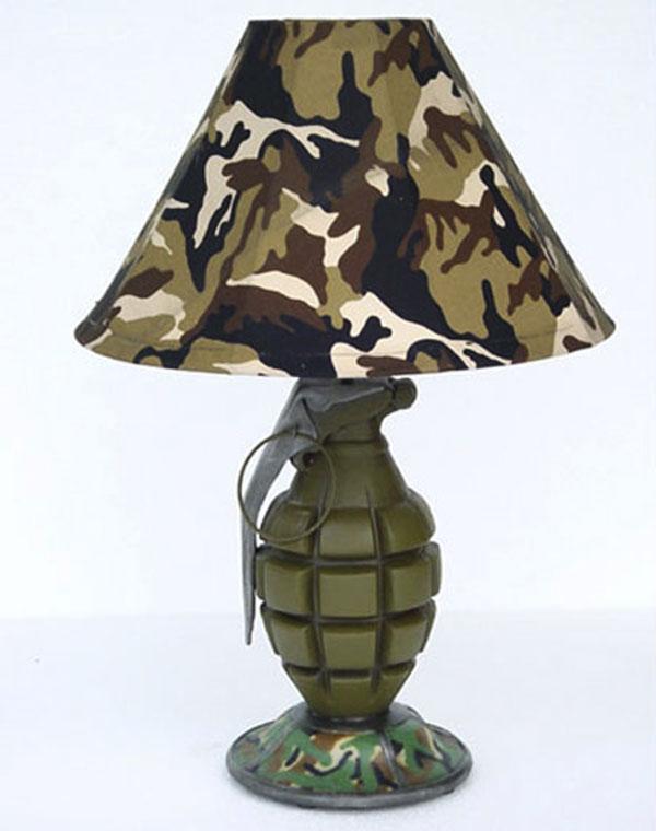 military-inspired desk lamp