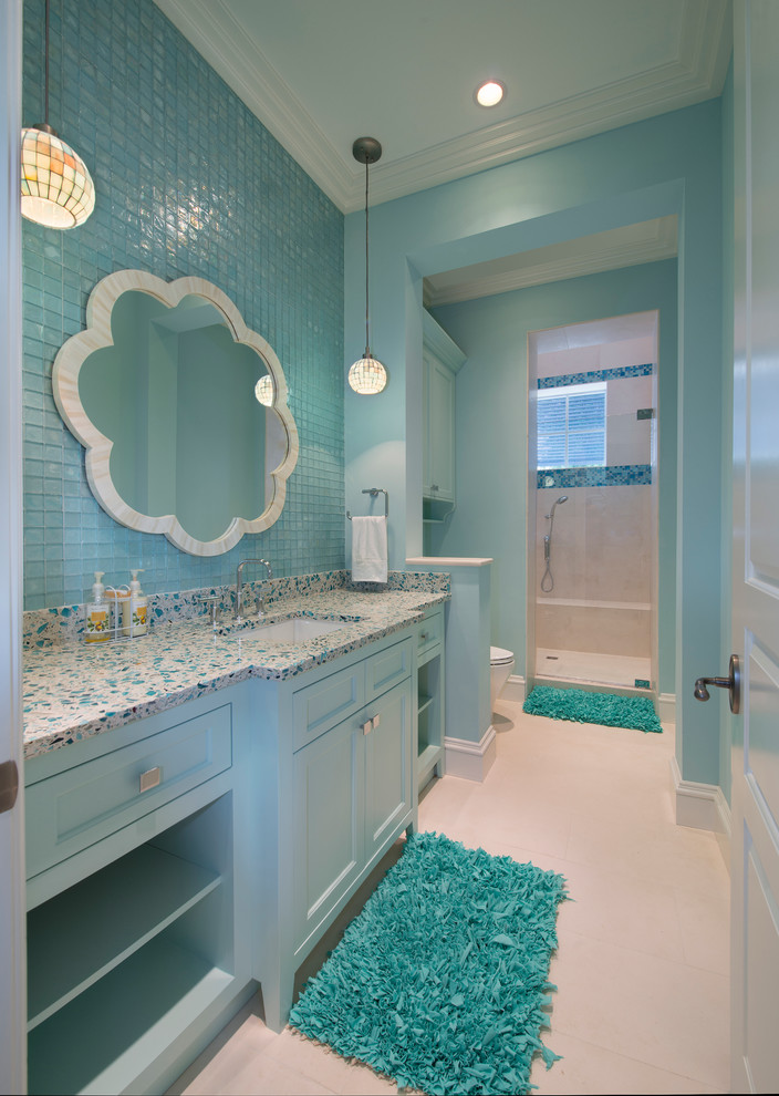 pastel blue bathroom
