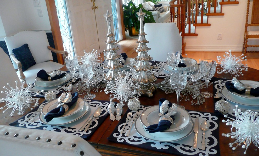 christmas dining room decoration : dining-room-table-christmas-decorations - designwebi.com