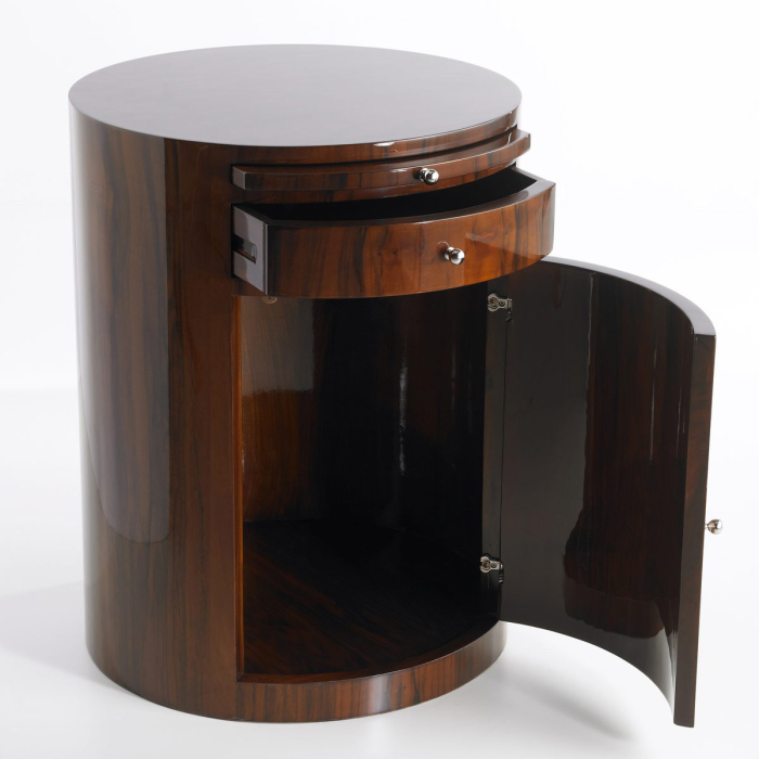 circular shaped bedside tables