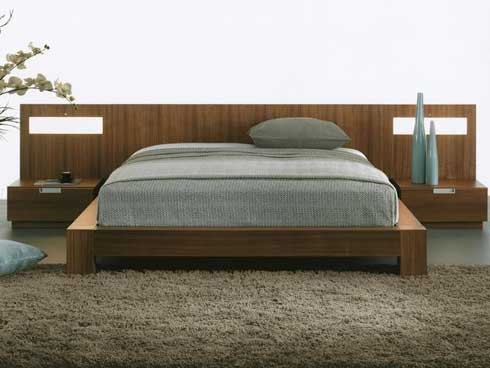 Contemporary bedroom idea with earth tones