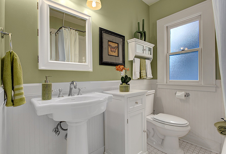 Bathroom storage and wall space