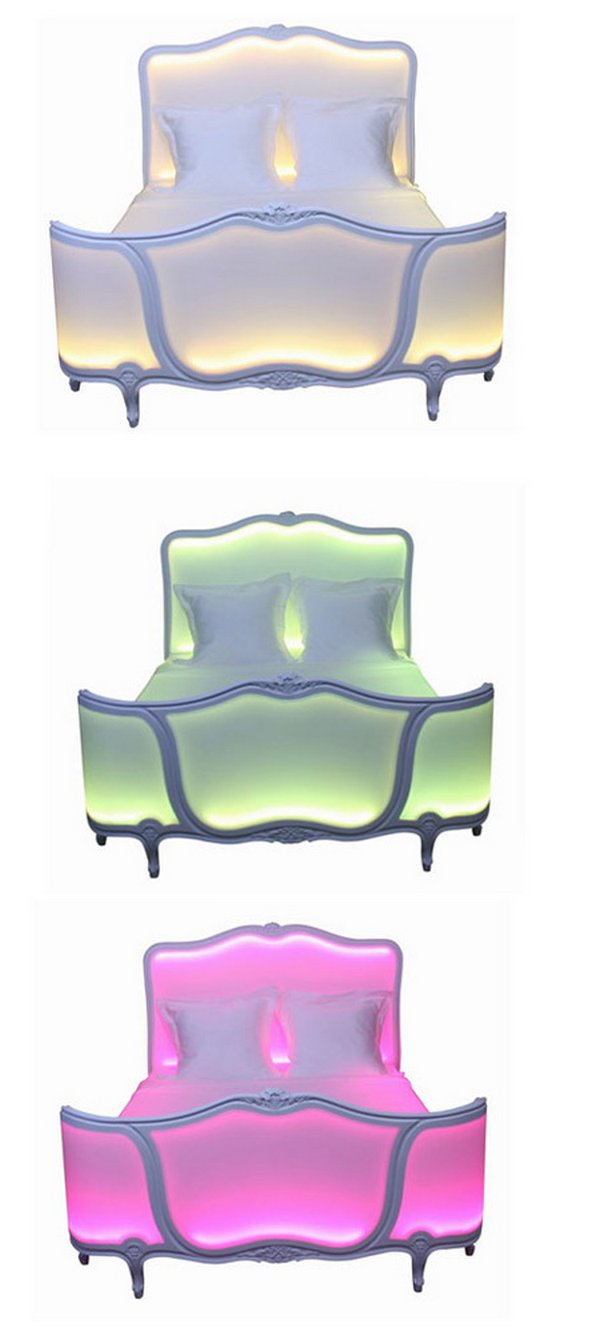 illuminated bed design